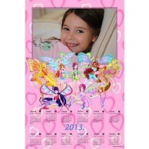 Dječji zidni kalendar - foto -1 list