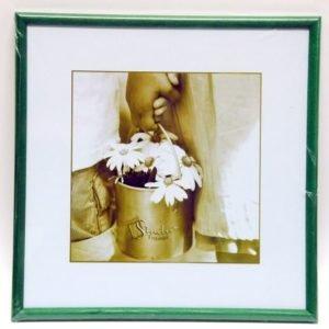 Photoframe 30x30 cm wooden green