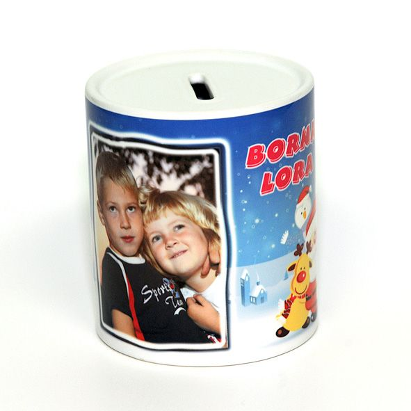 white money box with your photo