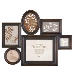 Frame for multiple photos - Milano III bronze