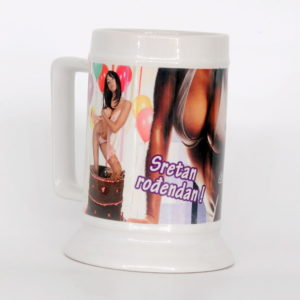 white ceramic cup with your photo