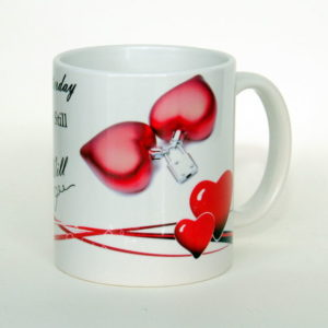 Valentine`s day cup - Love White