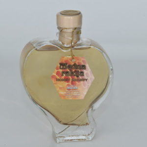brandy bottle in the shape of heart