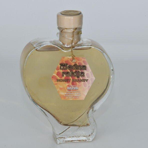 brandy bottle in the shape of heart