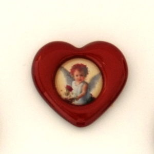 Small heart - angel with rose