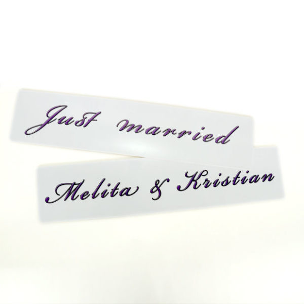 Registration labels for weddings