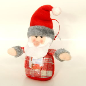 The decoration for the Christmas tree - plush Santa Claus