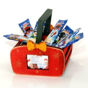 Christmas basket with your photo