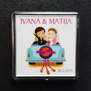 Photo invitation magnet