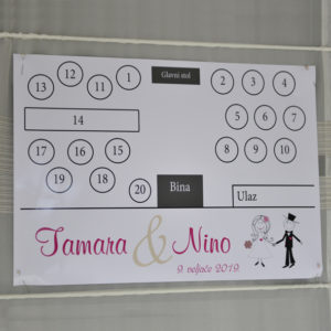 Table layout for weddings