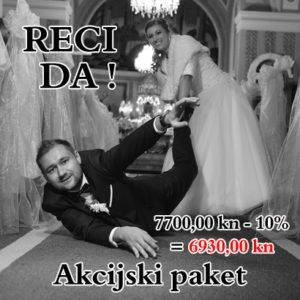 """Snimanje i fotografiranje Vjenčanja """"Reci DA!"""""""