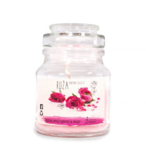 Scented candle (rose)
