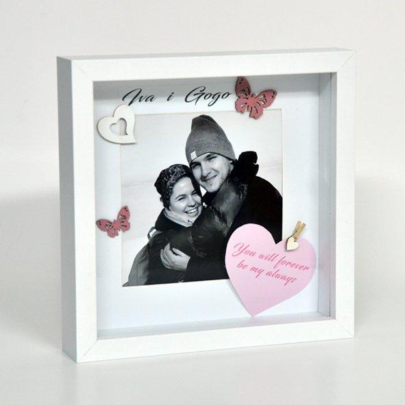 Personalizirani ručno rađeni poklon okvir za zaljubljene i BFF